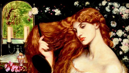 Rossetti, Lady Lilith, 38 x 33.5 inches, Delaware Art Museum, 1866-68 (altered 1872-73) | © Delaware Art Museum/WikiCommons