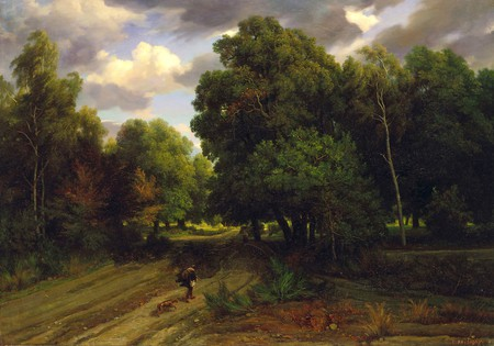 Charles Francois Daubigny, 'The Crossroads of the Eagle's Nest, Fontainebleau Forest', 1843-44, oil on canvas | Courtesy The Minneapolis Institute of Arts, Gift of Ruth and Bruce Dayton