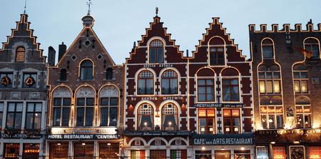 Grote Markt Restaurants by Night, Bruges  Richard Barrett-Small/Flickr