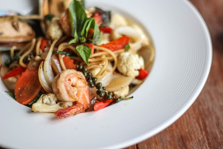 Seafood spaghetti | ©postchiangmai0/Pixabay