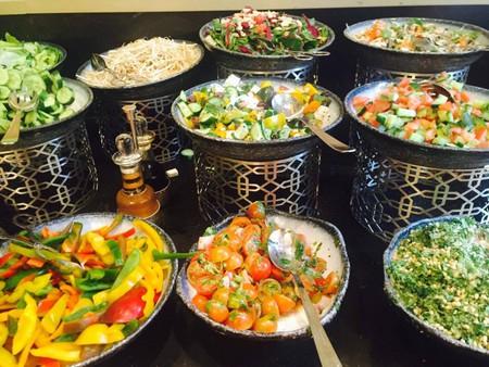Array of Salads at The Waldorf Astoria Jerusalem | Courtesy of Serena Carsley-Mann
