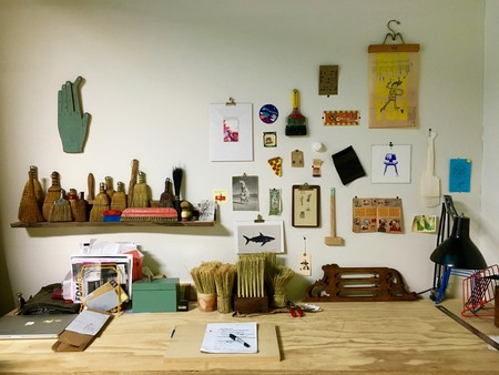 Hannah Beatrice Quinn's studio at Hunt Projects   © Anika Rice