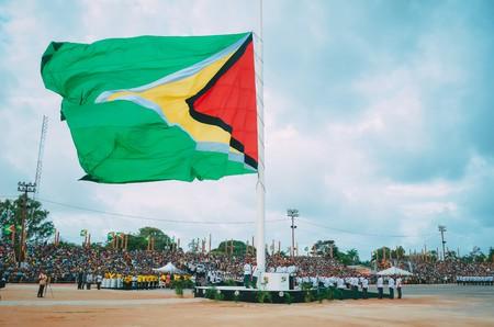 Guyana flag during Republic Day celebrations | Courtesy of Keno George