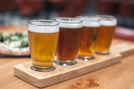 Beer flight   Courtesy of Mohawk Bend