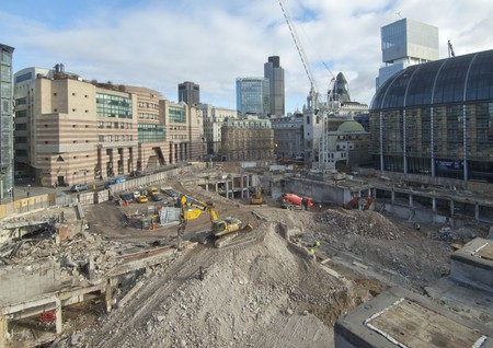 Bloomberg construction site during demolition | Courtesy of MOLA