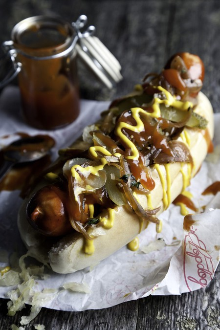 Hot dogs at Pop Dogs |
