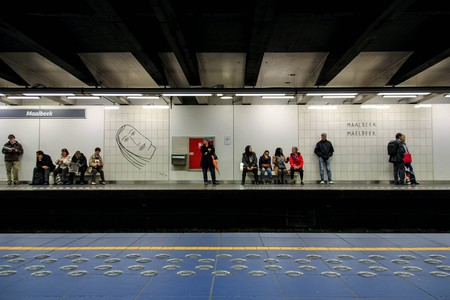 The Maelbeek metro station with artwork by Benoît   © Ståle Grut/Flickr