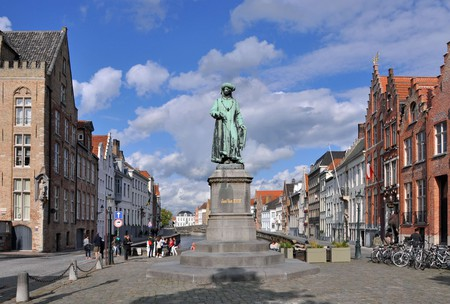 The Jan van Eyckplein in Bruges, where the historic city's hotshots used to work and play | © Marc Reyckaert/WikiCommons