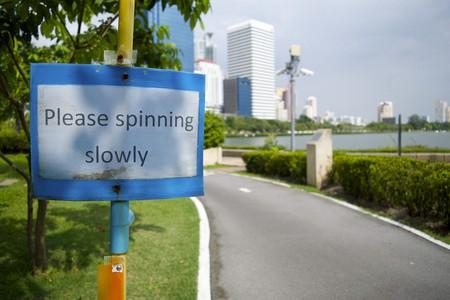Cycling Sign at Benjakiti Park/Courtesy of Kelly Iverson