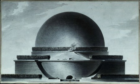 Boullée - Cénotaphe à Newton - élévation | © WikiCommons