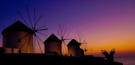 The windmills of Mykonos Island, Greece   © Hassan Rafeek