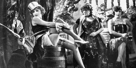 Marlene Dietrich in 'The Blue Angel' - the most famous still in movie history. © UFA/Paramount Pictures