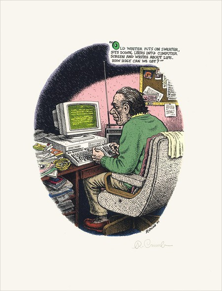 R Crumb's illustration for Bukowski's book There's No Business. | © Ecco