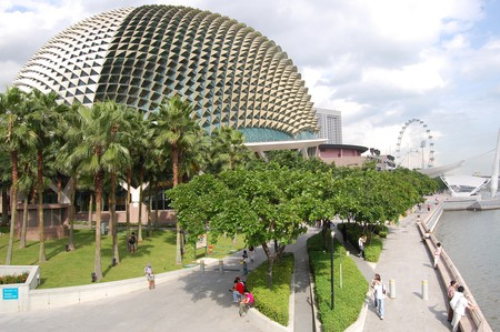 The durian-shaped Esplanade Theatres