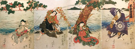 A depiction of a 1824 performance in Osaka   © WikiCommons