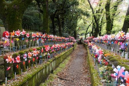 Jizo statues in the Garden of Unborn Children, Zojoji Temple   © Tatters/Flickr