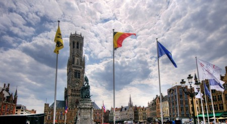 Part of what makes Bruges' Belfry so imposing is that it can be seen watching over the quaint city from many vantage points   © Wolfgang Staudt/Flickr