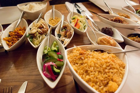 Rijsttafel at Restaurant Blauw