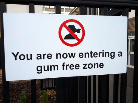 The country where gum chewing has been banned. 57