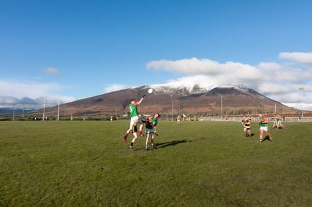 Lahardane Mchales v Ballina Stephenites in the North Mayo Junior Football League | © Paul Carroll