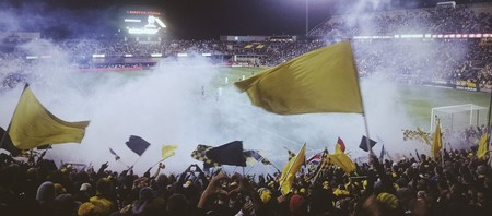 Columbus Crew fans cheering at MAPFRE Stadium