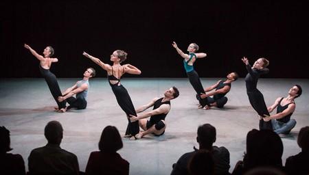Lloyd Mayor and Anne Souder (front center couple) and the Martha Graham Dance Company in Martha Graham's 'Dark Meadow Suite.'  Photo by Brigid Pierce | © Brigid Pierce