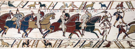 Scene from the Bayeux Tapestry   © Myrabella/WikiCommons