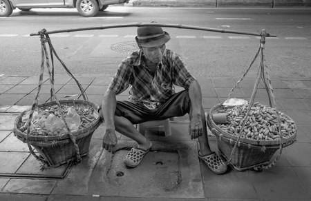 Peanut Salesman in Bangkok    ©  Courtesy of Tord Remme