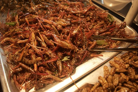Bug Vendor off Yaowarat Road | © Courtesy of Kelly Iverson