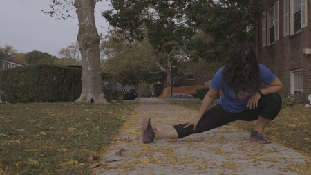Aja Carter, 29, is running her first New York City Marathon on Nov. 6. | © Drew English