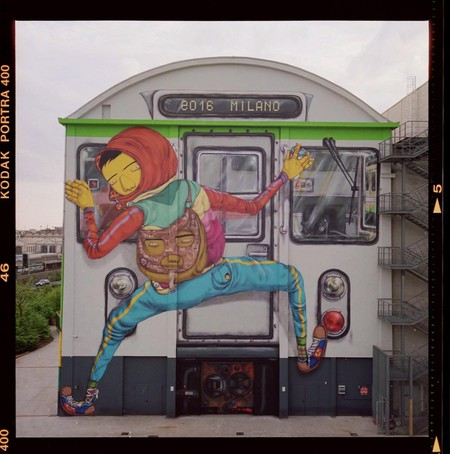 OSGEMEOS mural at the Pirelli Hangar Bicocca in Milan | © Courtesy of OSGEMEOS