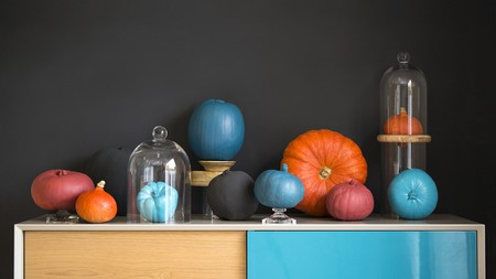 This sideboard from Danetti inspired the cool colour scheme for this display
