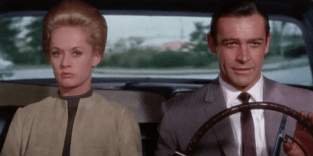 """Sean Connery And Tippi Hedren In """"Marnie"""" 