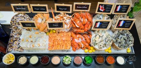 Seafood spread at Oscar's
