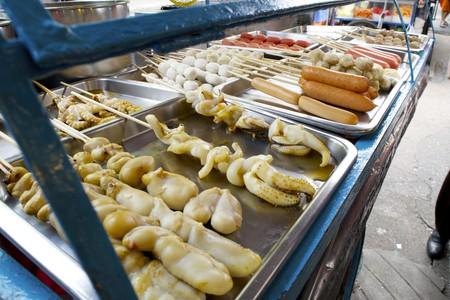 Food vendor at BTS Skytrain station Ari    © Courtesy of Kelly Iverson