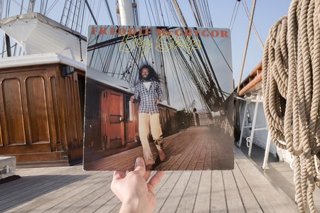 Freddie McGregor, Big Ship (Greensleeves, 1982), rephotographed on the Cutty Sark , London SE10, 33 years later. © Alex Bartsch