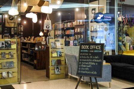 Bookmoby Readers' Café is on the fourth floor of the Bangkok Art and Culture Centre