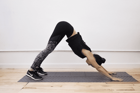 easy yoga stretches for postflight stiffness