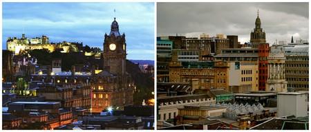 Edinburgh | © Dimitry B./Flickr // Glasgow | © karendesuyo/Flickr