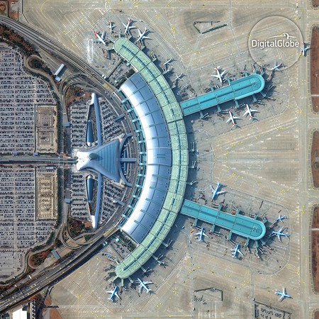 Incheon International Airport. Image Courtesy of © 2016 DigitalGlobe