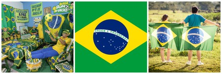 Brazil fan |Pixabay, Brazilian Flag | Public domain/WikiCommons, Brazil flags | Pixabay
