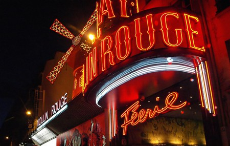 The exterior of the Moulin Rouge, Paris