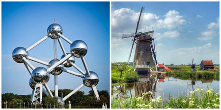The Atomium in Belgium | © Maria Firsova/Flickr / Windmills in the Netherlands | © John Morgan/Flickr