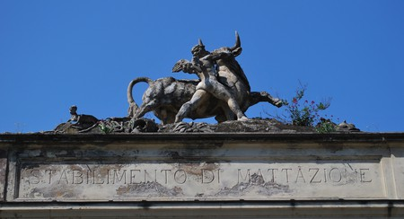Entrance to the old slaughterhouse, Testaccio | © malcolmm/Flickr