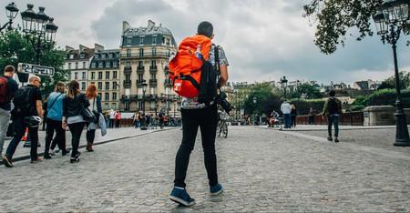 A backpacker explores Paris