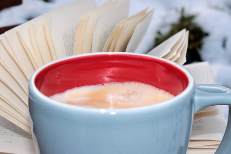 Books and coffee go together like hand and glove