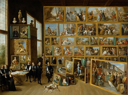 'The Art Collection of Archduke Leopold Wilhelm in Brussels' by David Teniers the Younger. Courtesy of WikiCommons