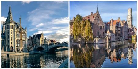 Ghent | © Mislav Marohnic / Flickr / Bruges | © Jan D'Hondt / Courtesy of Toerisme Brugge