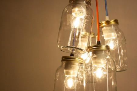 Dangling Kilner lights | © Jam Jar Lights