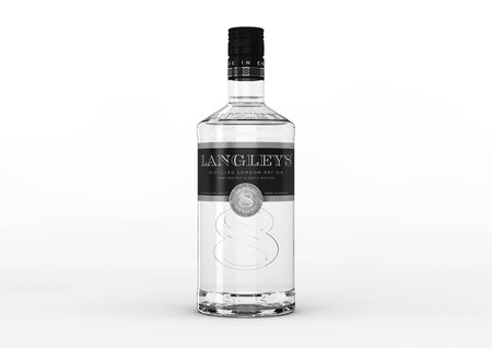 A bottle of Langley's gin